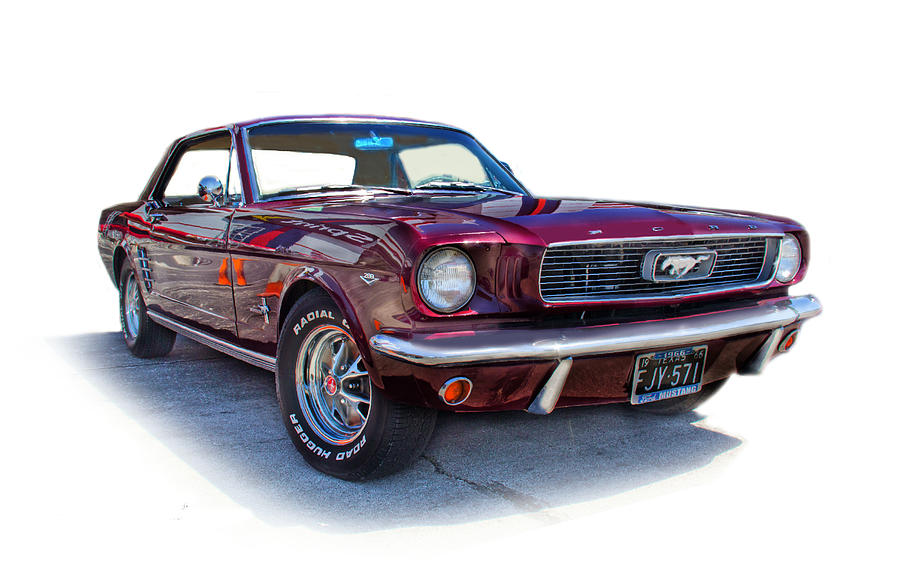 1969.69. Ford Mustang Photograph - 69 Ford Mustang by Mamie Thornbrue