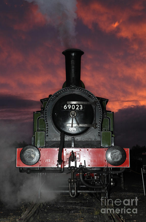 Steam Photograph - 69023 Sunset by Bryan Attewell