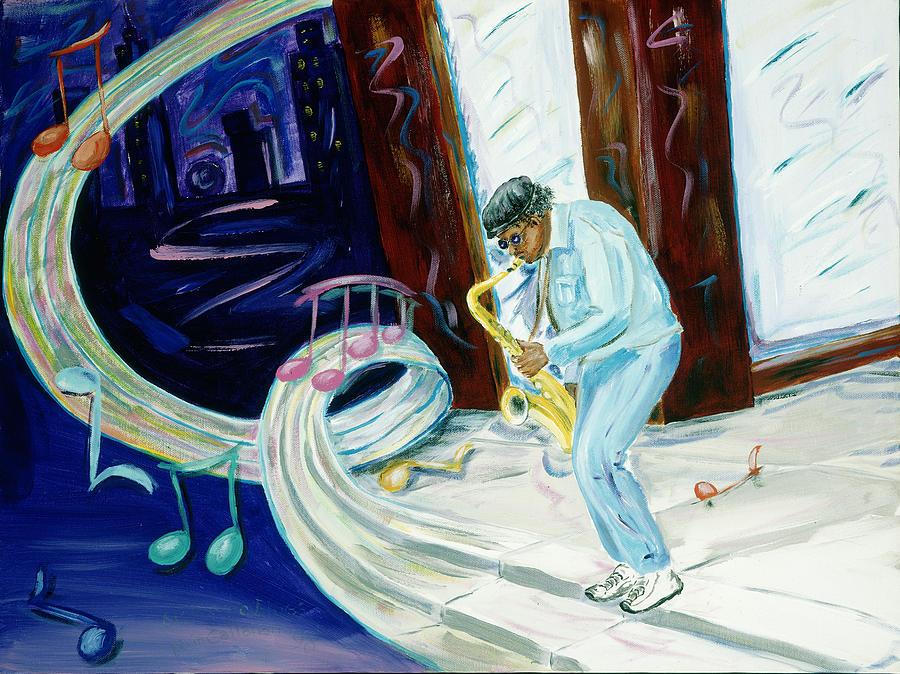 Kevin Callahan Painting - 6th Avenue Blues by Kevin Callahan