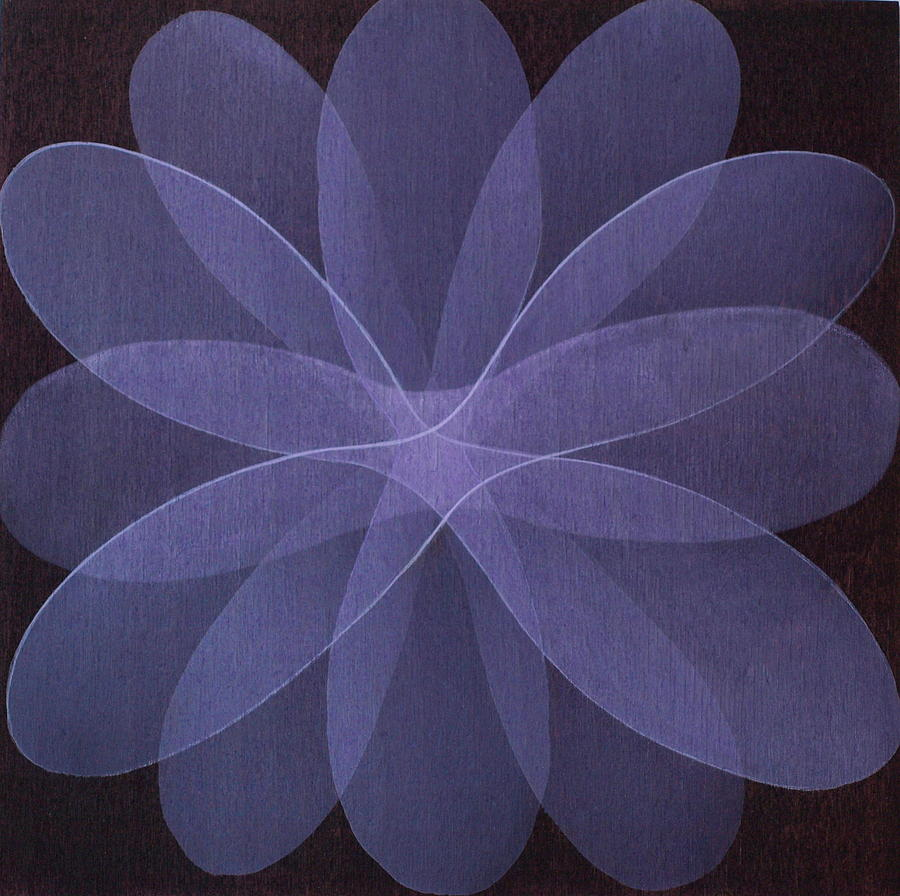 Abstract Painting - Abstract flower  by Jitka Anlaufova