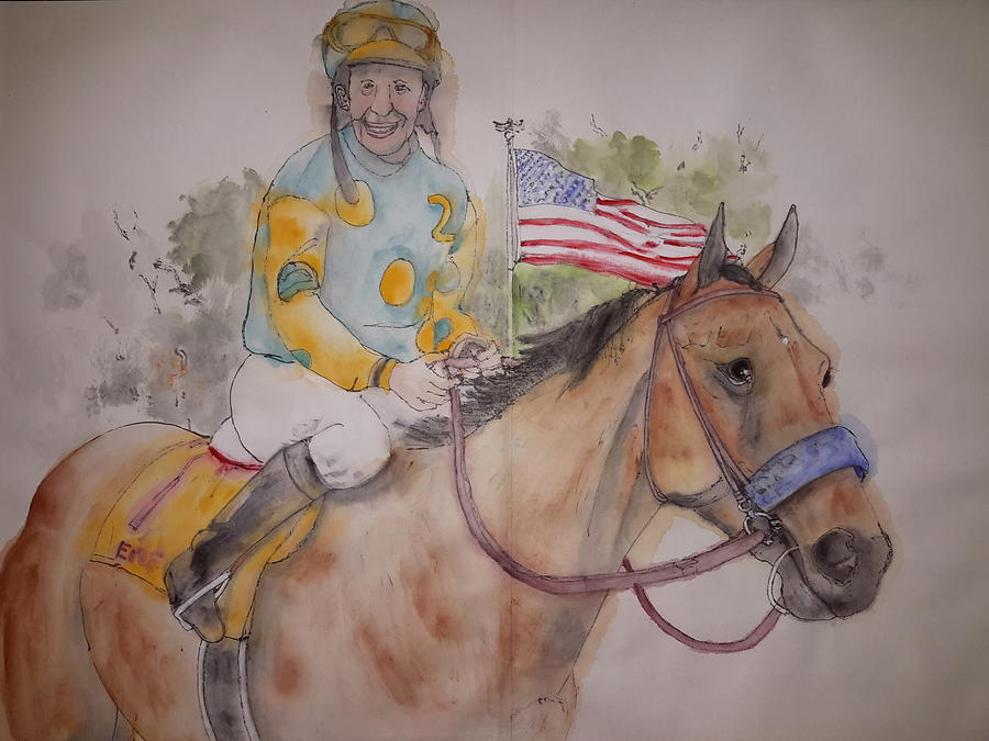 American Pharaoh Album  Painting by Debbi Saccomanno Chan