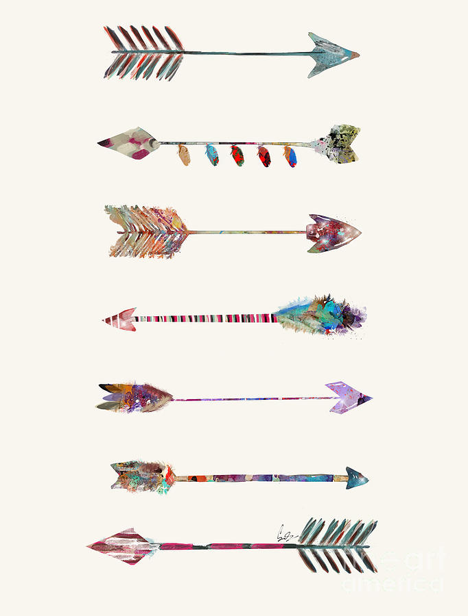 Arrows Painting - 7 Arrows by Bri Buckley