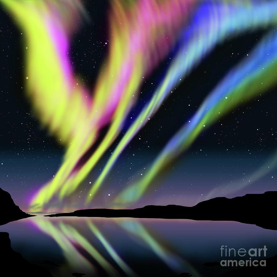 Activity Digital Art - Aurora by Atiketta Sangasaeng