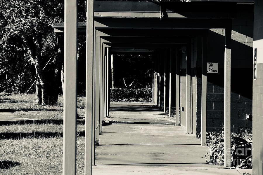 Landmarks Photograph - 7 Bw George Washington High School by Olga Burt