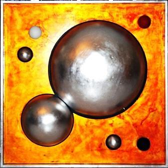 Spiritual Painting - 7 Circles  by Mounir Lakkis