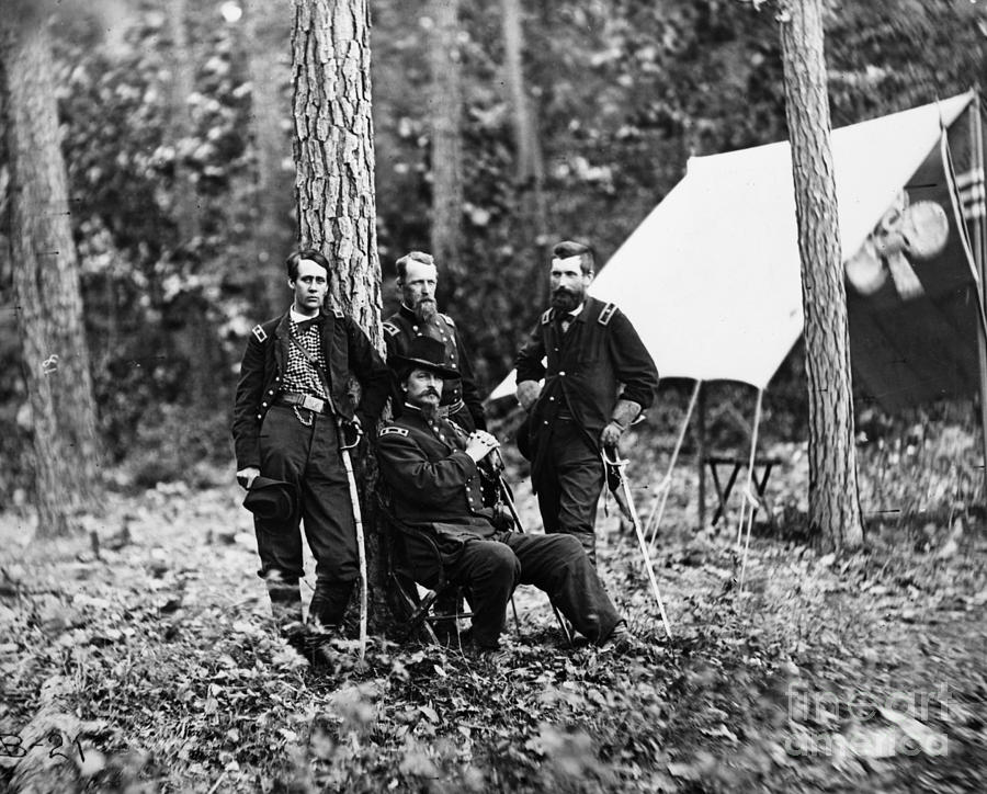1860s Photograph - Civil War: Soldiers by Granger