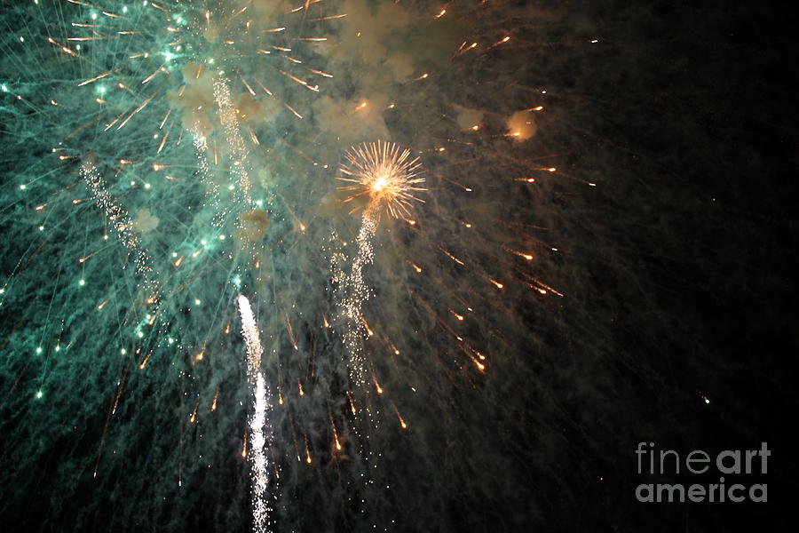 Fireworks Photograph - Fireworks by Diane Falk