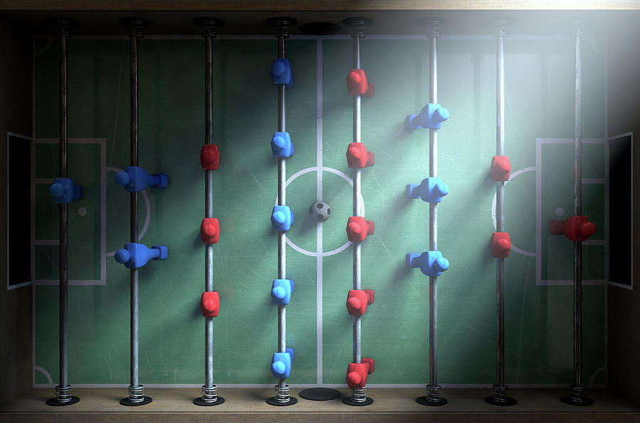 Foosball Digital Art - Foosball Players by Allan Swart