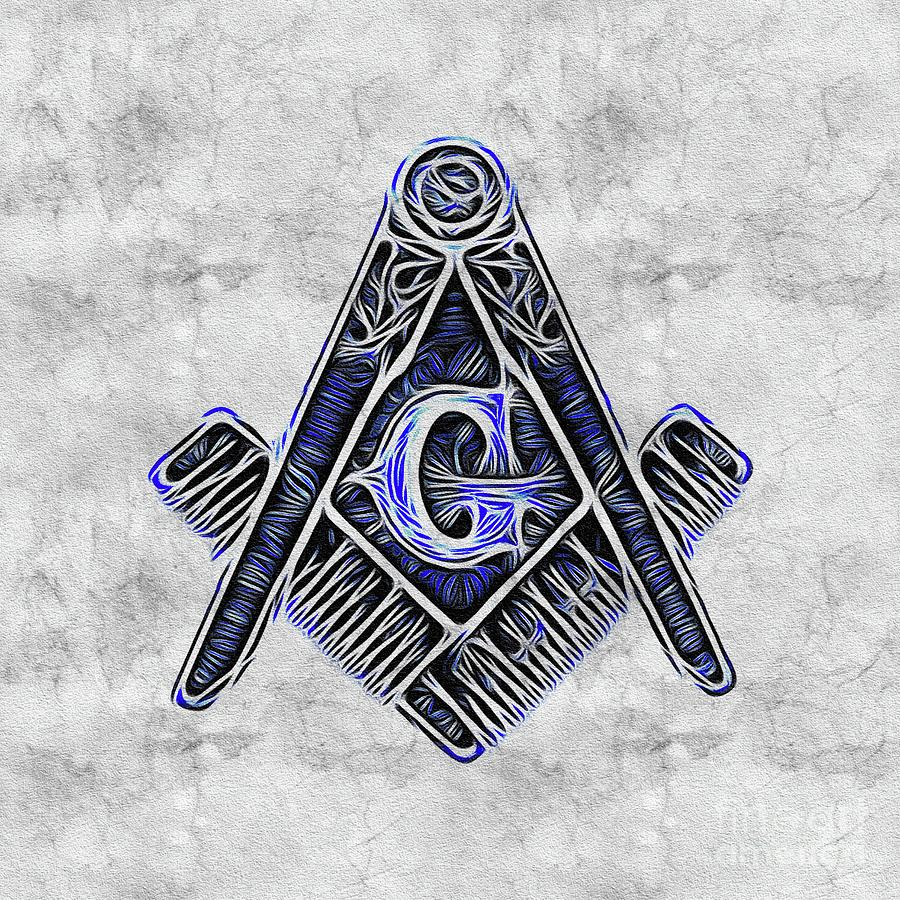 Lodge Painting - Freemason, Mason, Masonic Symbolism by Esoterica Art Agency