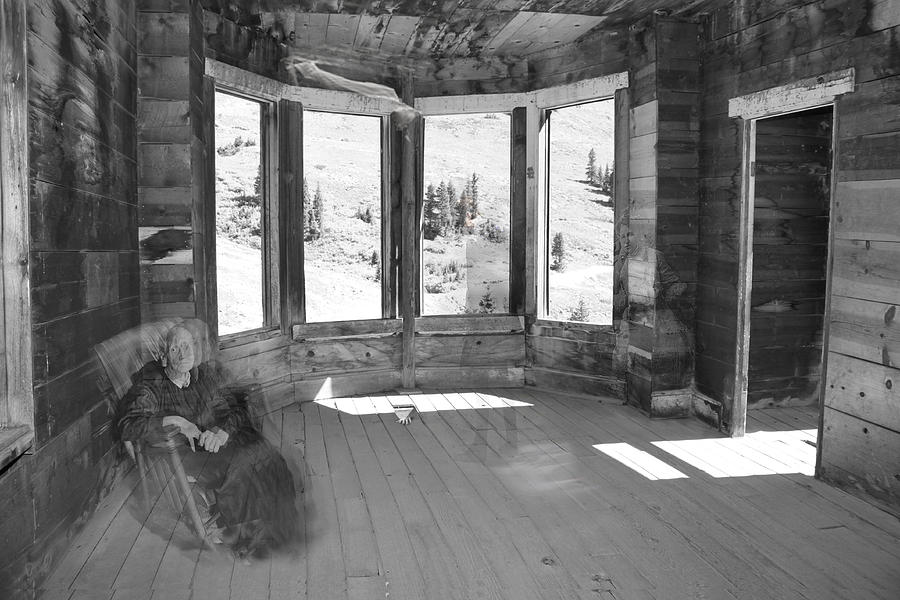 Ghost Photograph - 7 Ghosts At Animas Forks by Angie Wingerd