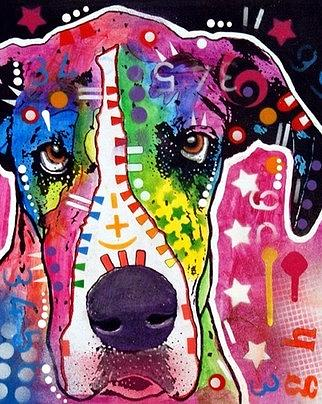 Great Dane Painting by Dean Russo