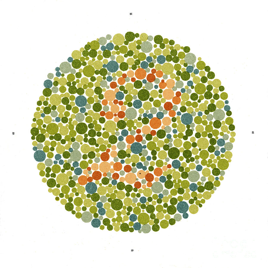 Ishihara Color Blindness Test Photograph by Wellcome Images