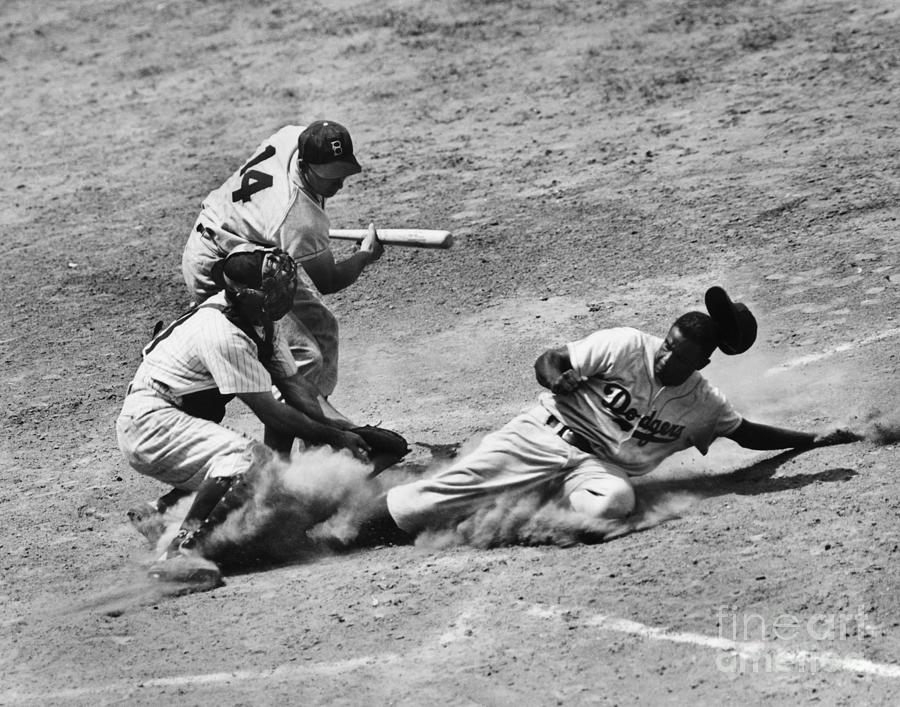 1950 Photograph - Jackie Robinson (1919-1972) by Granger