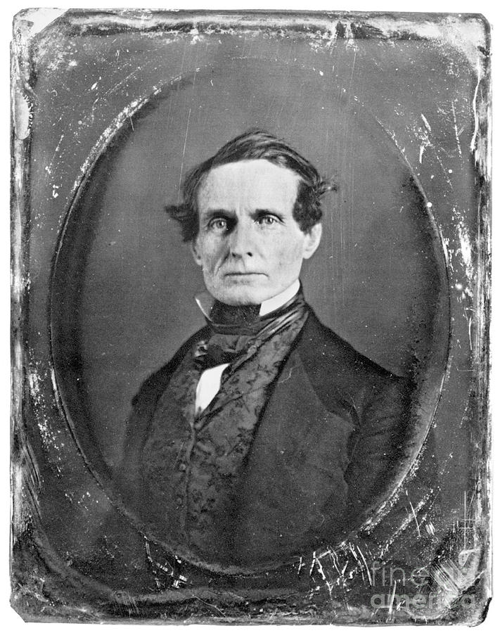 19th Century Photograph - Jefferson Davis by Granger