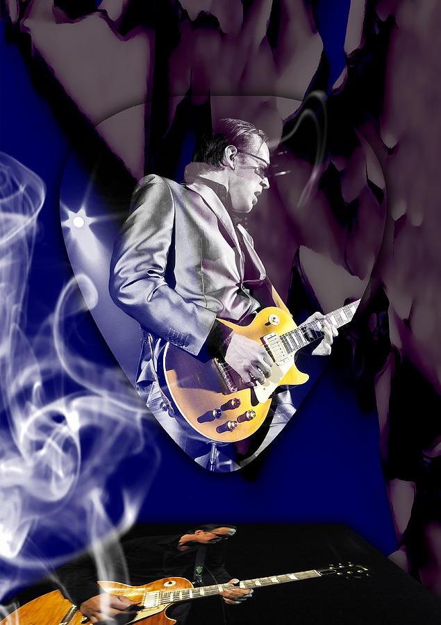 Joe Bonamassa Mixed Media - Joe Bonamassa Blues Guitarist Art by Marvin Blaine