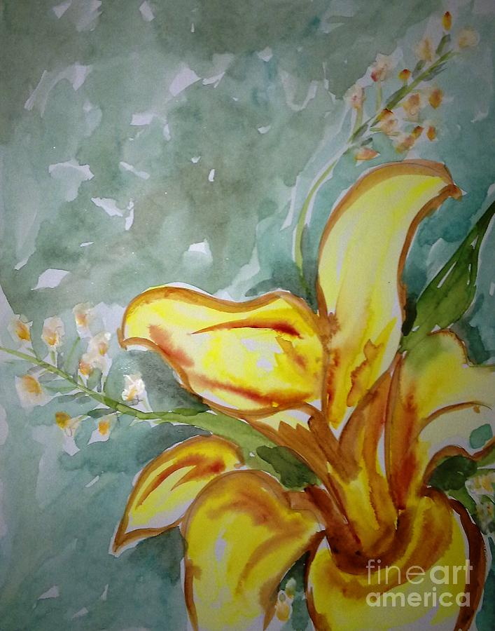 Floral Painting - Love Flowers by Baljit Chadha