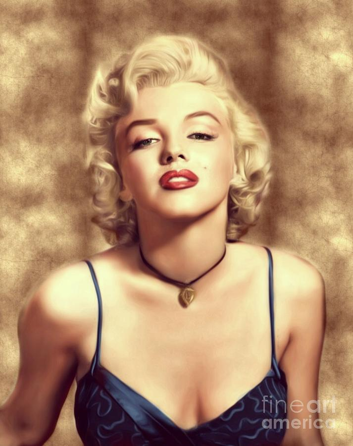 Marilyn Monroe, Actress And Model Digital Art