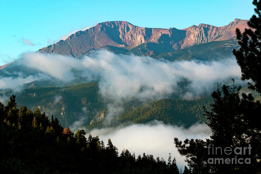 Pikes Peak Photograph - Misty Pikes Peak by Steven Krull