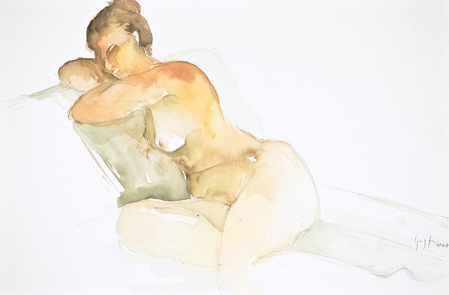 Nude Series Painting by Eugenia Picado