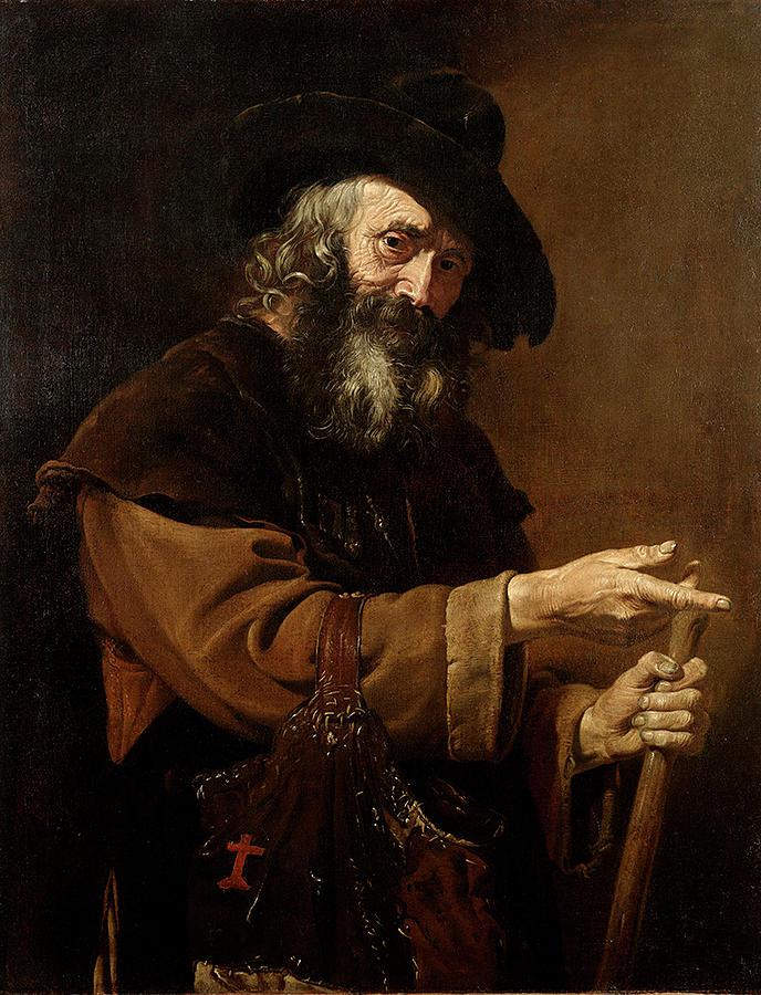 Old Pilgrim Painting