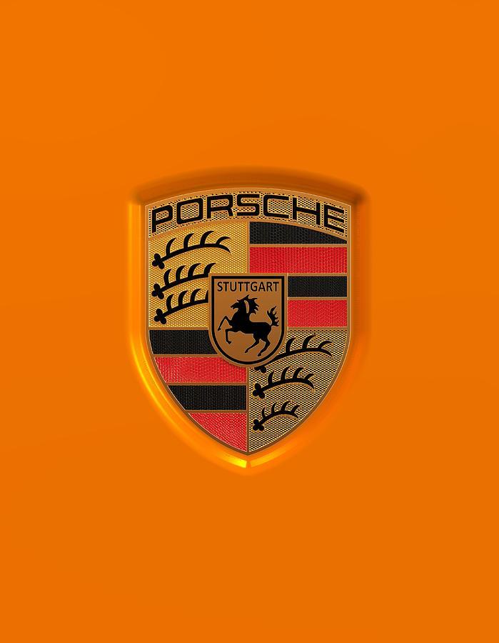 Porsche Logo Digital Art By Harry Grant
