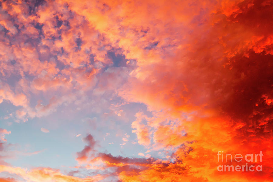 Sun Photograph - Red Cloudscape At Sunset. by Sv