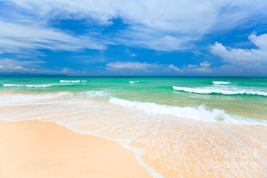Background Photograph - Sandy Beach by MotHaiBaPhoto Prints