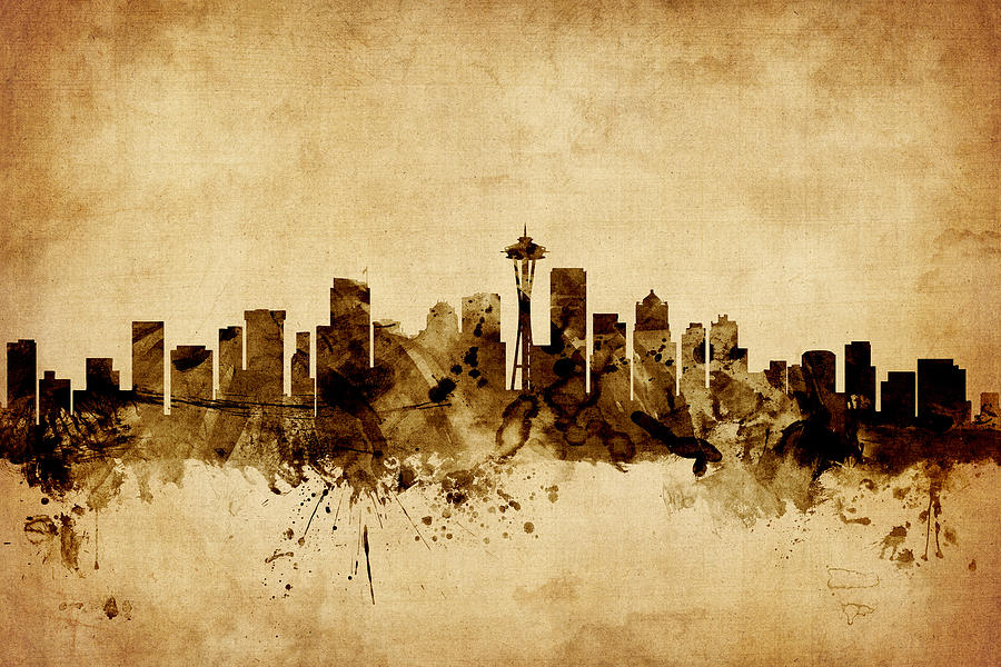 Seattle Skyline Art | Fine Art America