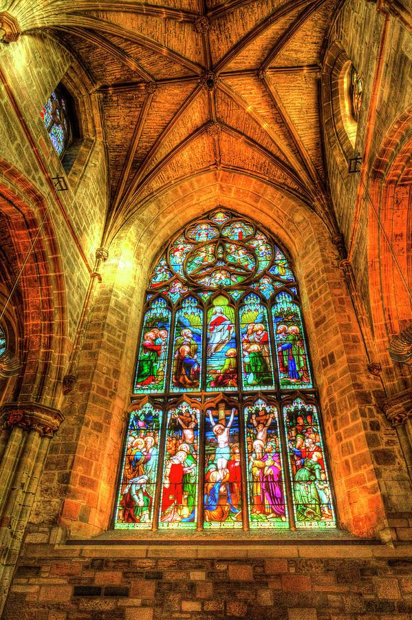 Stained Glass Window Photograph - Stained Glass Window 8 by David Pyatt