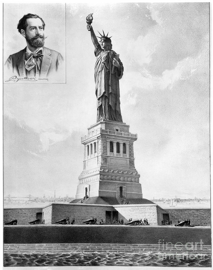 1886 Photograph - Statue Of Liberty, 1886 by Granger