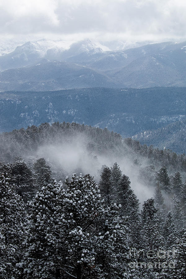 Storm Clouds On Pikes Peak Colorado Photograph