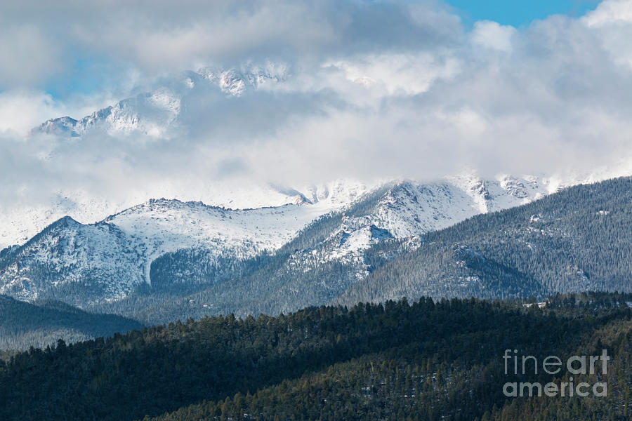 Storm Clouds On Pikes Peak Photograph