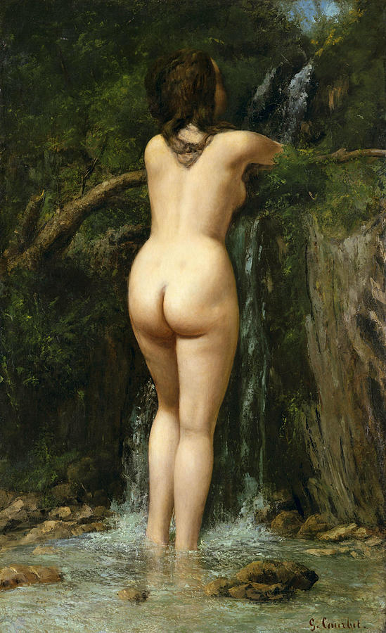 Gustave Courbet Painting - The Source by Gustave Courbet