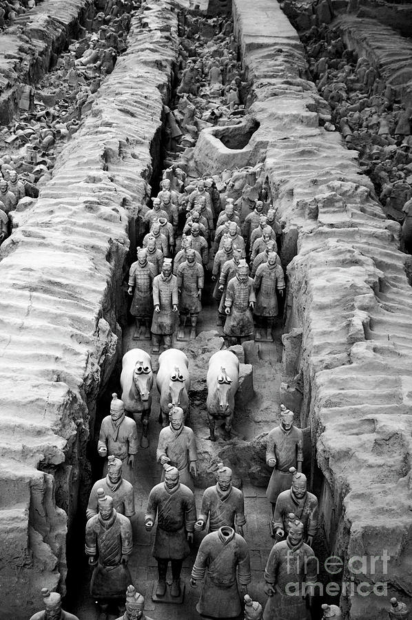 Ancient Photograph - The Terracotta Army by Sami Sarkis