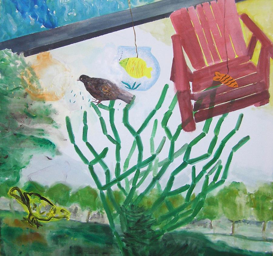 Contemporary Painting - Untitled by Eirini Baka