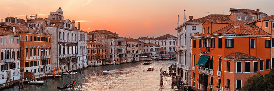 Venice grand canal sunset by Songquan Deng