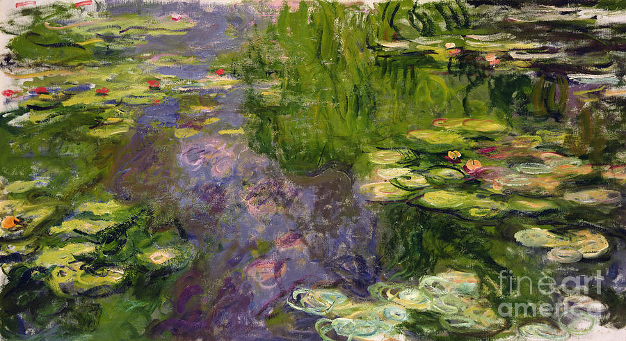 Mauve Painting - Waterlilies by Claude Monet