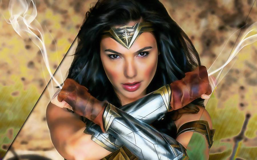 Wonder Woman Mixed Media - Wonder Woman Art by Marvin Blaine