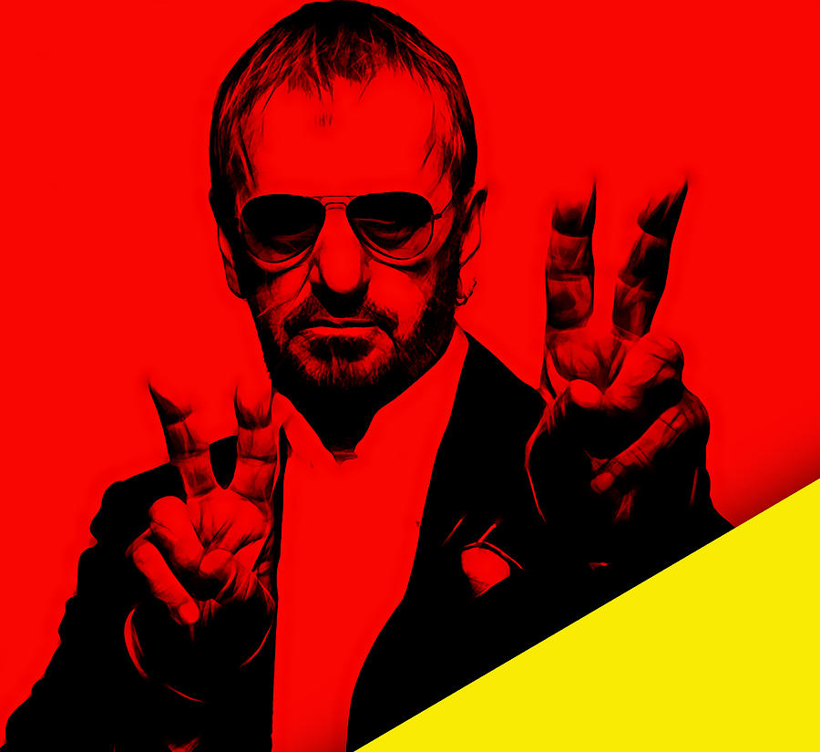 Ringo Starr Mixed Media - Ringo Starr Collection by Marvin Blaine