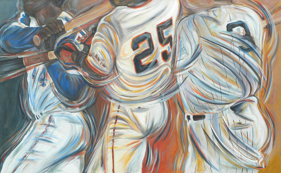 Sports Painting - 700 Homerun Club by Redlime Art