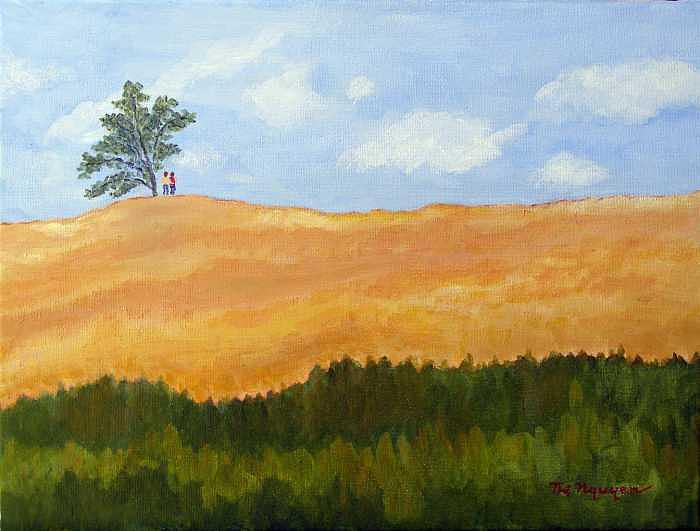Landscape Painting - Close Together by Thi Nguyen