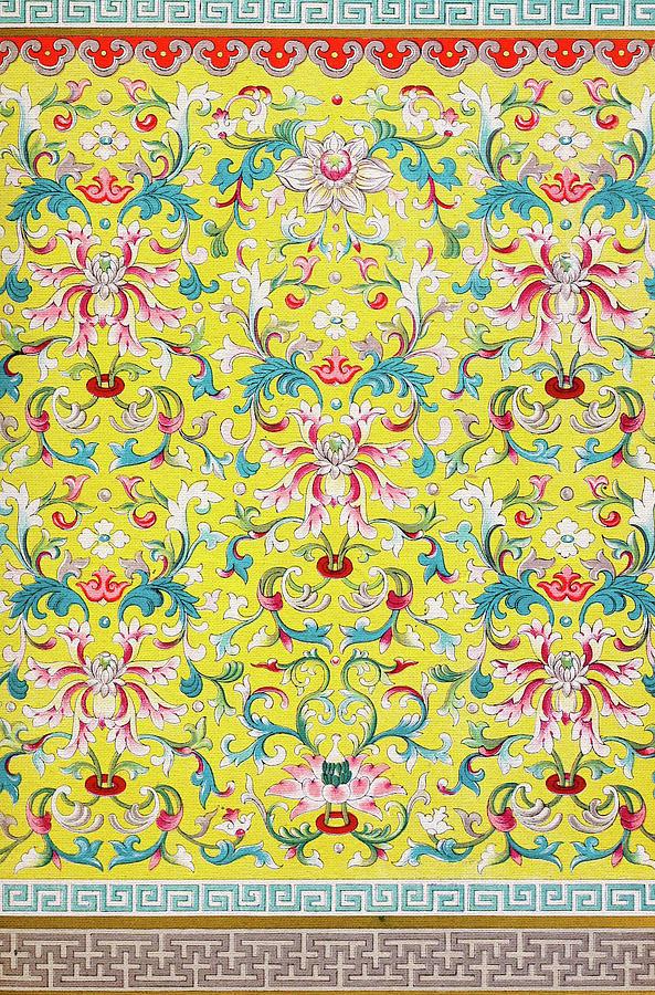 Yellow Boho Art - Vintage Flowers Pattern Wall Art Prints Mixed ...