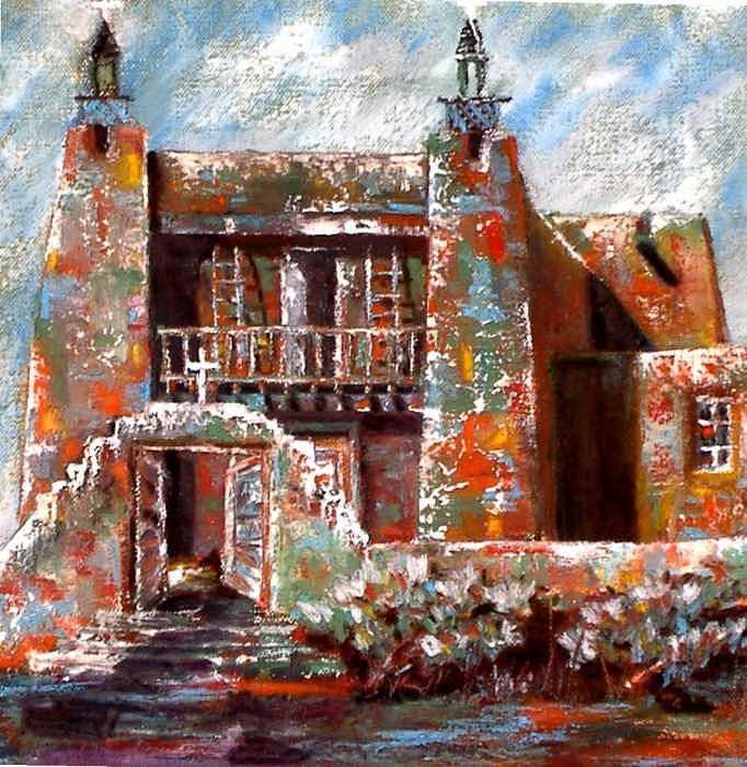 Studio Work Painting - San Jose De Gracias Church New Mexico by David Knox