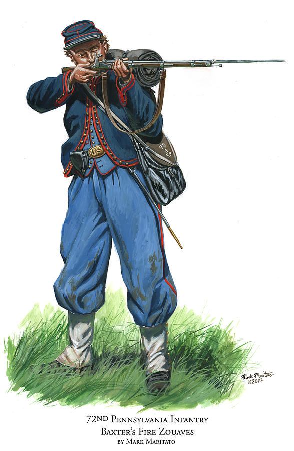 72nd Pennsylvania Infantry - Baxters Fire Zouaves Painting