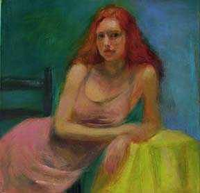 Figure Painting - Figure With Yellow Cloth by Nancy Blum