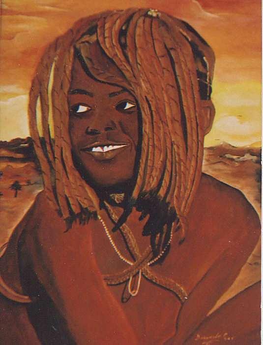 The Himba Girl Painting by Patrick Desenclos