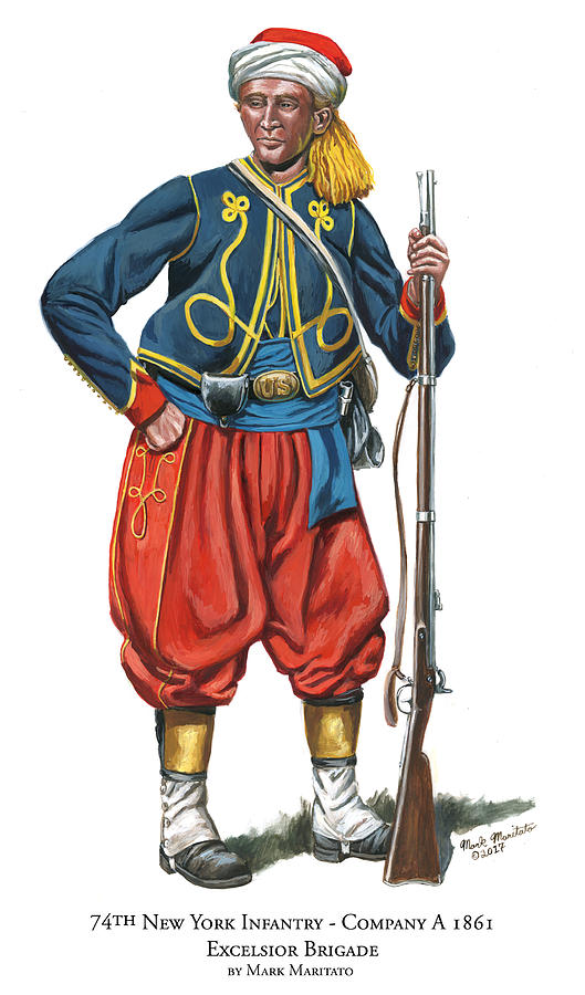 74th New York Infantry - Company A - Excelsior Brigade Painting