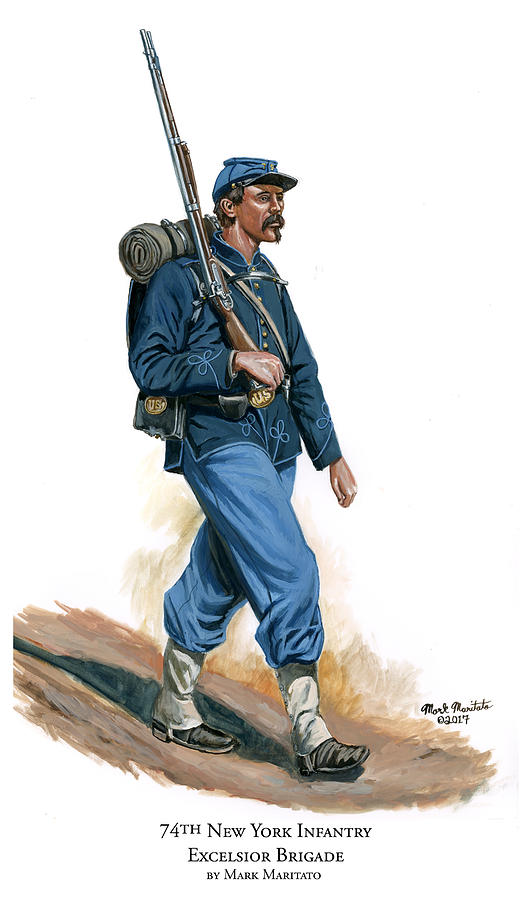 74th New York Infantry - Excelsior Brigade Painting