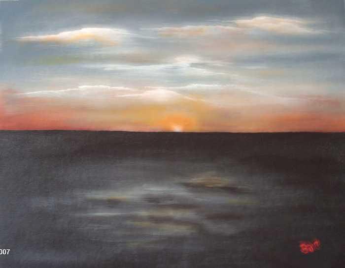 Sundown Painting by Brenda Coster
