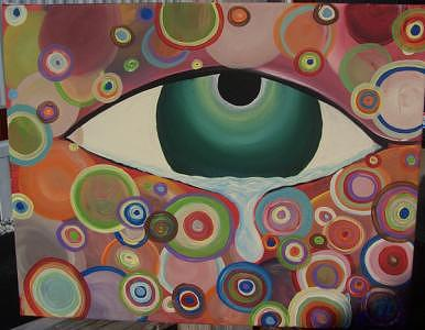 Eye Painting - Tears N Bubbles by Hollie Leffel